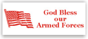 Show your patriotism and stamp outgoing mail and packages with one of our patriotic self-inking God Bless Our Armed Forces rubber stamps in your choice of 11 ink colors. Shop now and get free shipping over $10. Several styles to choose from.