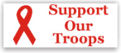 Show your patriotism and stamp outgoing mail and packages with one of our patriotic self-inking Support Our Troops rubber stamps in your choice of 11 ink colors. Shop now and get free shipping over $10. Several styles to choose from.