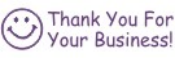 Order Thank You - Business #1 pre-inked stock stamp online. $8.88 each. Thousands of impressions. Refillable. 11 ink colors. Hundreds of stock messages to choose from or customize your own.