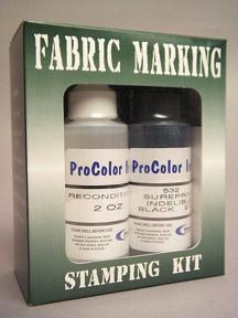 Fabric Permanent Marking Ink Kit