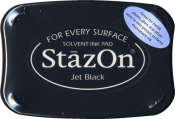 StazOn ink pads are highly versatile inks that adhere to paper, acrylic, metal, leather, shrink plastic, cellophane, most acetate, plastic and glass. Ships in 1 business day!