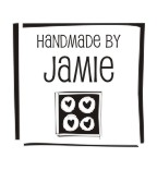 Stamp your name on cards, notes and tags with custom pre-inked handmade by rubber stamps in your choice of 11 ink colors.  Free shipping on orders over $10! Style 4