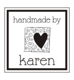 Stamp your name on cards, notes and tags with custom pre-inked handmade by rubber stamps in your choice of 11 ink colors.  Free shipping on orders over $10! Style 7
