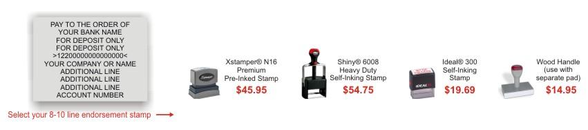 Custom Deposit Stamps Rubber Stamp Champ