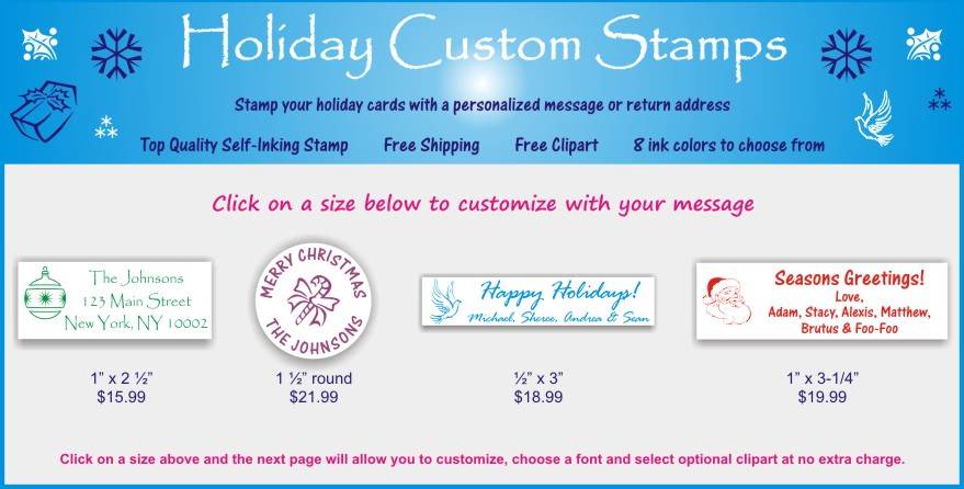Rubber Stamps For The Holidays