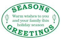 Create unique holiday cards and crafts with our self-inking oval Seasons Greetings holiday rubber stamp in your choice of 11 ink colors. Shop now and get free shipping over $15. Several styles to choose from.
