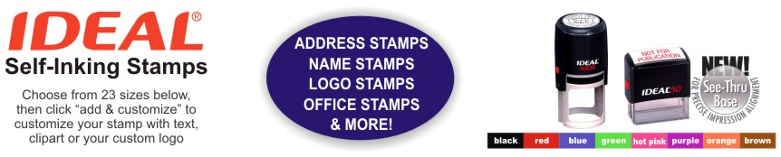 Discount Self Inking Rubber Stamps With Free Art Uploads, Free Ink color Selection and Free Shipping At RubberStampChamp.com