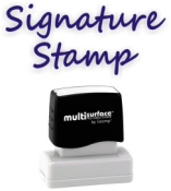 Custom signature rubber stamps faster and for less at RubberStampchamp.com