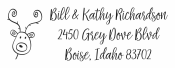 Personalize your holiday cards with a custom holiday address stamp in your choice of 11 ink colors! Quick and free shipping on orders over $10!  Many styles to choose from including Style 4003