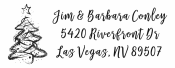 Personalize your holiday cards with a custom holiday address stamp in your choice of 11 ink colors! Quick and free shipping on orders over $10!  Many styles to choose from including Style 4005