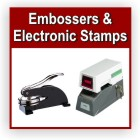 Electronic time and date stamps.  Custom or stock. Fast, convenient and mobile alternatives to manual hand stamping, embossing, check signing and more. Long lasting performance, accurate timing, quality impressions and durable construction.