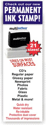 Permanent Fast Dry rubber Stamps Ship Free At RubberStampChamp.com