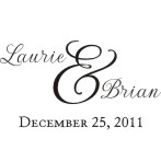 Wedding Name Stamps. Custom Rubber Stamps for Wedding napkins, invitations and more. Personalized. Custom Monogram Wedding Stamps. RubberStampChamp.com.