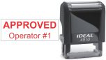 Top quality Ideal 4910 self-inking stamp. Free customization in your choice of 11 ink colors. Orders ship free over $10 in 24-48 hours.