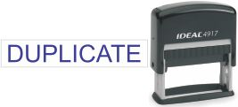 Top quality Ideal 4917 self-inking stamp. Free customization in your choice of 11 ink colors. Orders ship free over $10 in 24-48 hours.
