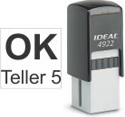 Top quality Ideal 4922 self-inking stamp. Free customization in your choice of 11 ink colors. Orders ship free over $10 in 24-48 hours.