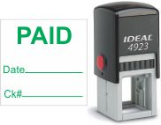 Top quality Ideal 4923 self-inking stamp. Free customization in your choice of 11 ink colors. Orders ship free over $10 in 24-48 hours.