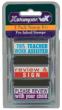 Rubber stamps for teachers and schools. Stock and custom starting as low as $6.25 ea. 11 ink color choices. Secure online order. Knockout prices and free shipping on orders over $15.