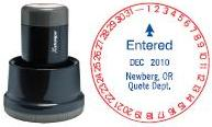 Xstamper® N77 Rotary Xspedaters at Knockout Prices from RubberStampChamp.com. 1-Day custom Xstamper Round Xspedaters date stamps. Secure order online. Free shipping.