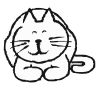 Cat Stock Rubber Stamps in your choice of 11 ink colors. Easy online secure ordering. Free shipping on orders over $10.