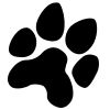 Paw Print Stock Rubber Stamps in your choice of 11 ink colors. Easy online secure ordering. Free shipping on orders over $10.
