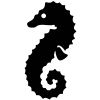 Seahorse Stock Rubber Stamps in your choice of 11 ink colors. Easy online secure ordering. Free shipping on orders over $10.