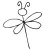 Dragonfly Stock Rubber Stamps in your choice of 11 ink colors. Easy online secure ordering. Free shipping on orders over $10.