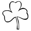 Shamrock Stock Rubber Stamps in your choice of 11 ink colors. Easy online secure ordering. Free shipping on orders over $10.