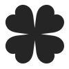 Four Leaf Clover Stock Rubber Stamps in your choice of 11 ink colors. Easy online secure ordering. Free shipping on orders over $10.