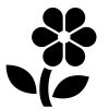 Flower-3 self-inking rubber stamps in your choice of 11 ink colors. Hundreds of other images to choose from. Order online now and get free shipping on orders over $10.