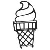 Ice Cream Stock Rubber Stamps in your choice of 11 ink colors. Easy online secure ordering. Free shipping on orders over $10.