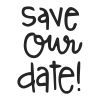 Save Our Date Stock Rubber Stamps in your choice of 11 ink colors. Easy online secure ordering. Free shipping on orders over $10.