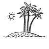 Palm Tree Stock Rubber Stamps in your choice of 11 ink colors. Easy online secure ordering. Free shipping on orders over $10.