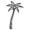 Palm Tree-2 self-inking rubber stamps in your choice of 11 ink colors. Hundreds of other images to choose from. Order online now and get free shipping on orders over $10.