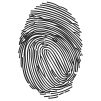 Fingerprint Stock Rubber Stamps in your choice of 11 ink colors. Easy online secure ordering. Free shipping on orders over $10.