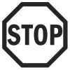 Stop Sign Stock Rubber Stamps in your choice of 11 ink colors. Easy online secure ordering. Free shipping on orders over $10.