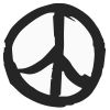 Peace Sign-1 self-inking rubber stamps in your choice of 11 ink colors. Hundreds of other images to choose from. Order online now and get free shipping on orders over $10.