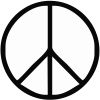 Peace Sign Stock Rubber Stamps in your choice of 11 ink colors. Easy online secure ordering. Free shipping on orders over $10.