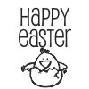 Happy Easter Stock Rubber Stamps in your choice of 11 ink colors. Easy online secure ordering. Free shipping on orders over $10.