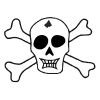 Skull & Crossbones - 1 self-inking rubber stamps in your choice of 11 ink colors. Hundreds of other images to choose from. Order online now and get free shipping on orders over $10.