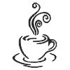 Coffee Cup - 1 self-inking rubber stamps in your choice of 11 ink colors. Hundreds of other images to choose from. Order online now and get free shipping on orders over $10.