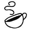 Coffee Cup - 2 self-inking rubber stamps in your choice of 11 ink colors. Hundreds of other images to choose from. Order online now and get free shipping on orders over $10.