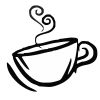 Coffee Cup - 3 self-inking rubber stamps in your choice of 11 ink colors. Hundreds of other images to choose from. Order online now and get free shipping on orders over $10.
