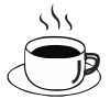 Coffee Cup - 6 self-inking rubber stamps in your choice of 11 ink colors. Hundreds of other images to choose from. Order online now and get free shipping on orders over $10.