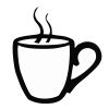 Coffee Cup - 8 self-inking rubber stamps in your choice of 11 ink colors. Hundreds of other images to choose from. Order online now and get free shipping on orders over $10.