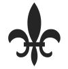 Fleur de Lis Stock Rubber Stamps in your choice of 11 ink colors. Easy online secure ordering. Free shipping on orders over $10.