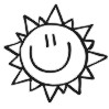 Smiley Face Sun self-inking rubber stamps for teachers.  Hundreds of messages to choose from in 11 different ink colors. Free shipping on orders over $10..