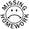 Missing Homework-1 self-inking rubber stamps for teachers.  Hundreds of messages to choose from in 11 different ink colors. Free shipping on orders over $10..