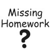 Missing Homework-2 self-inking rubber stamps for teachers.  Hundreds of messages to choose from in 11 different ink colors. Free shipping on orders over $10..