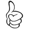 Thumbs Up 1 self-inking rubber stamps for teachers.  Hundreds of messages to choose from in 11 different ink colors. Free shipping on orders over $10..
